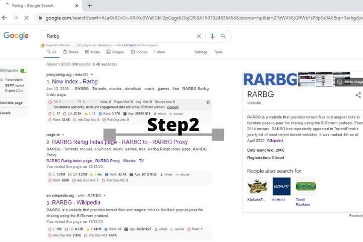 Rarbg-step 2