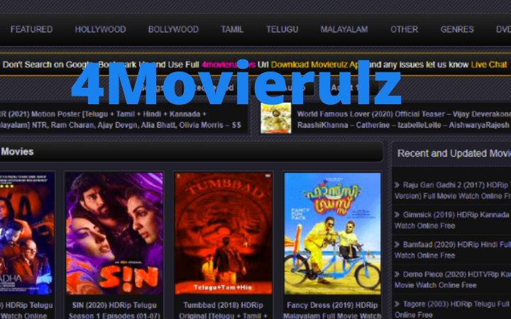 4Movierulz | Download All Latest Hollywood, Bollywood, Telugu And Malayalam Movies | Proxy Unblock (2021 Updated)