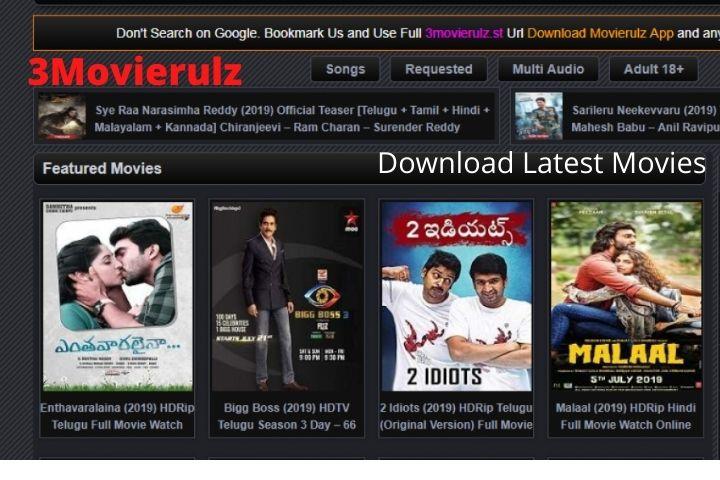3Movierulz | Download Latest Tamil, Telugu, Hindi And Malayalam Movies For Free | Updated(2021)